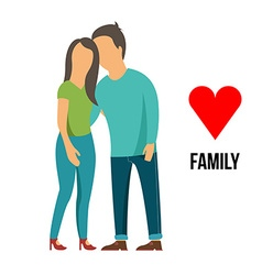 Family with love vector image
