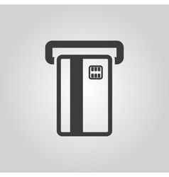 The atm card slot icon finance and payment vector