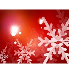 Red christmas snowflakes abstract background vector
