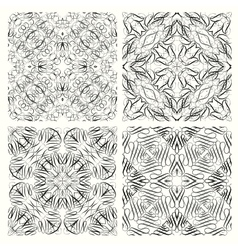 Set of seamless pattern in retro style vector