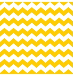 Tile chevron pattern with yellow and white zig zag vector image