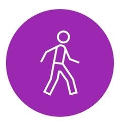 Pedestrianism line icon vector