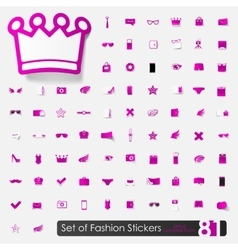 Set of fashion stickers vector