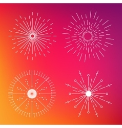 Abstract creative concept icon of sunbursts vector
