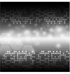 abstract light grey tech background vector image