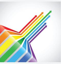 abstract rainbow pattern design vector image