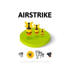 Airstrike icon in different style vector