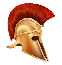 Ancient greek warrior helmet vector