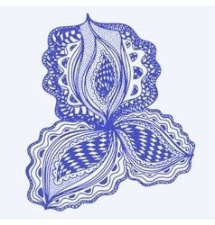 Blue abstract floral element for decorative design vector image