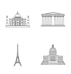 Building interesting place tower countries vector