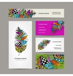 Business cards with for your design vector image