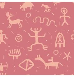 Cave petroglyphs vector