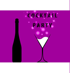 Cocktail party for poster vector