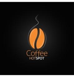 coffee bean design menu background vector image vector image
