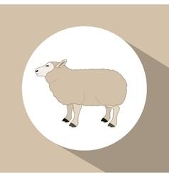 Colorful lamb animal design vector