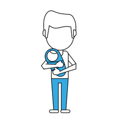 Dad and baby design vector