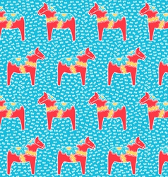 Dala horse pattern vector