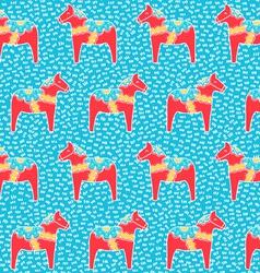 Dala horse pattern vector image vector image