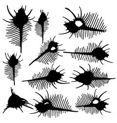 Fish skeletons vector