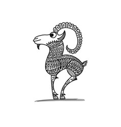 goat sketch for your design vector image