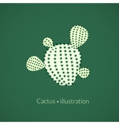 Green plant prickly pear cactus logo vector