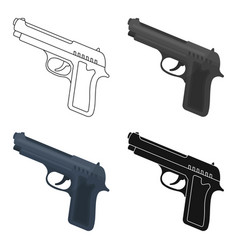 Handgun icon in cartoon style isolated on white vector