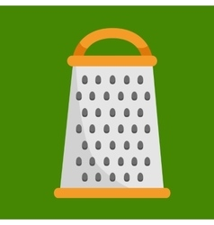 Isolated metallic grater kitchen tool icon vector