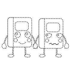 Kawaii cartoon two school notebook character vector