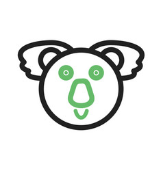 Koala bear face vector