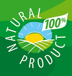 Logo ecological landscape for natural products vector