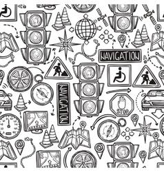 Navigation seamless pattern vector