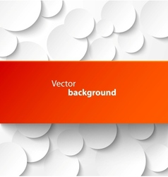 Red paper banner on circle background vector