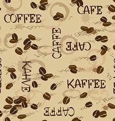 Seamless pattern of coffee beans vector image vector image