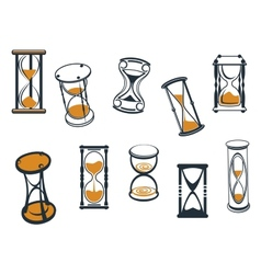 Set of hourglasses or egg timers vector image
