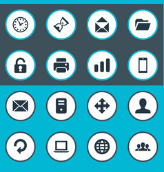 Set of simple apps icons vector