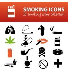 Smoking icons vector
