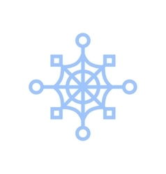 snowflake isolated on white Cartoon vector image vector image