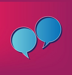 Two speech bubble sign blue 3d printed vector