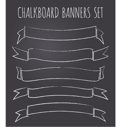Vintage chalkboard style banners collection vector