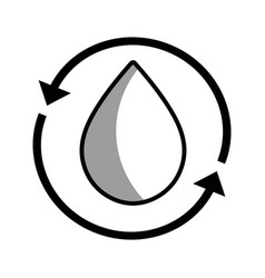 Water drop with arrows around vector