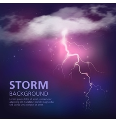 Electric discharge in sky background vector