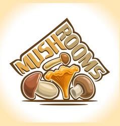 Mushrooms still life vector
