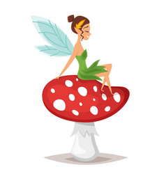 cartoon style of smiling fairy vector image