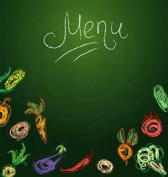 Vegetables menu vector image