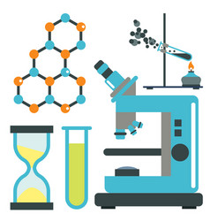 Lab symbols test medical laboratory scientific vector