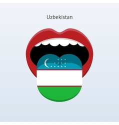 Uzbekistan language abstract human tongue vector