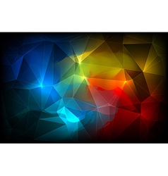 Colorful abstract crystal background vector