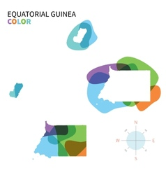 Abstract color map of equatorial guinea vector