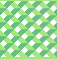 3d abstract seamless pattern green grid vector image vector image