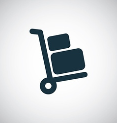 Luggage trolley icon vector image